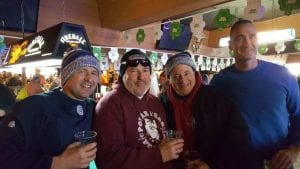 Several Northern Valley Local 233 members celebrated milestones: Northvale PD member Michael Graham participated for the first time in 2000 and still does. Closter PD retired member Dennis Kane started plunging in 1993 when the event began and celebrated his 26th plunge in 2019, while member Christopher Dippolito started in 1997 and is still participating. Northvale PD member Reggie Parsells plunged for the first time in 2005 and has kept going ever since.