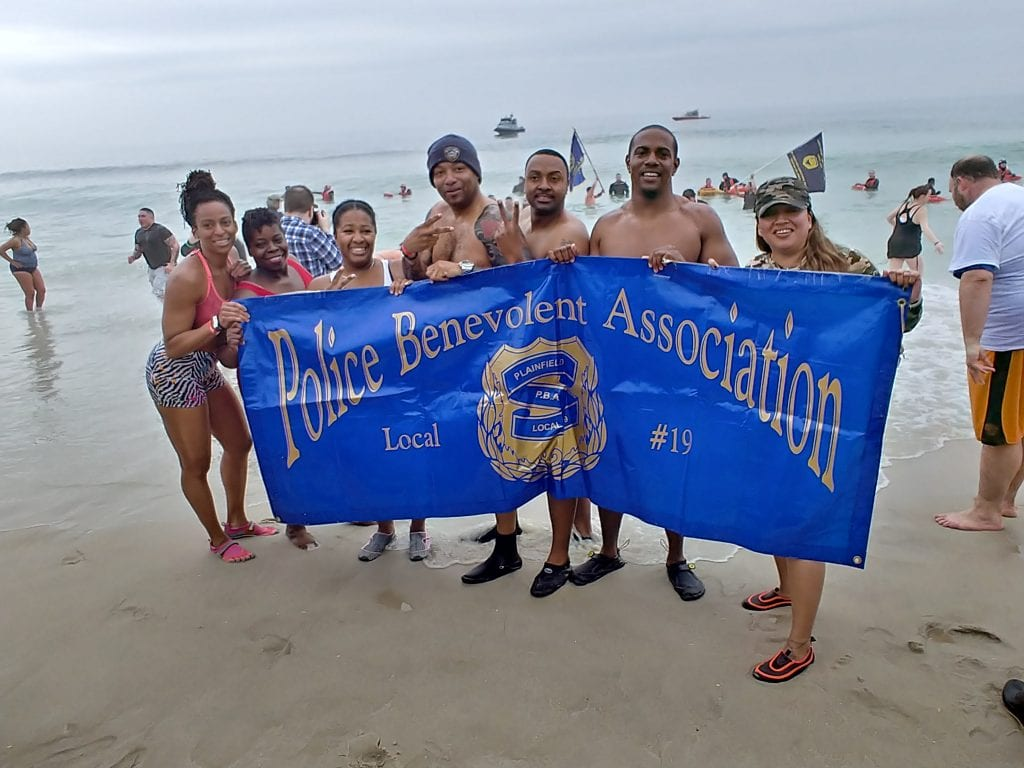 Plainfield Local 19, which started plunging in 2006, took the dip at least four times at the 25th Polar Bear Plunge in 2018.