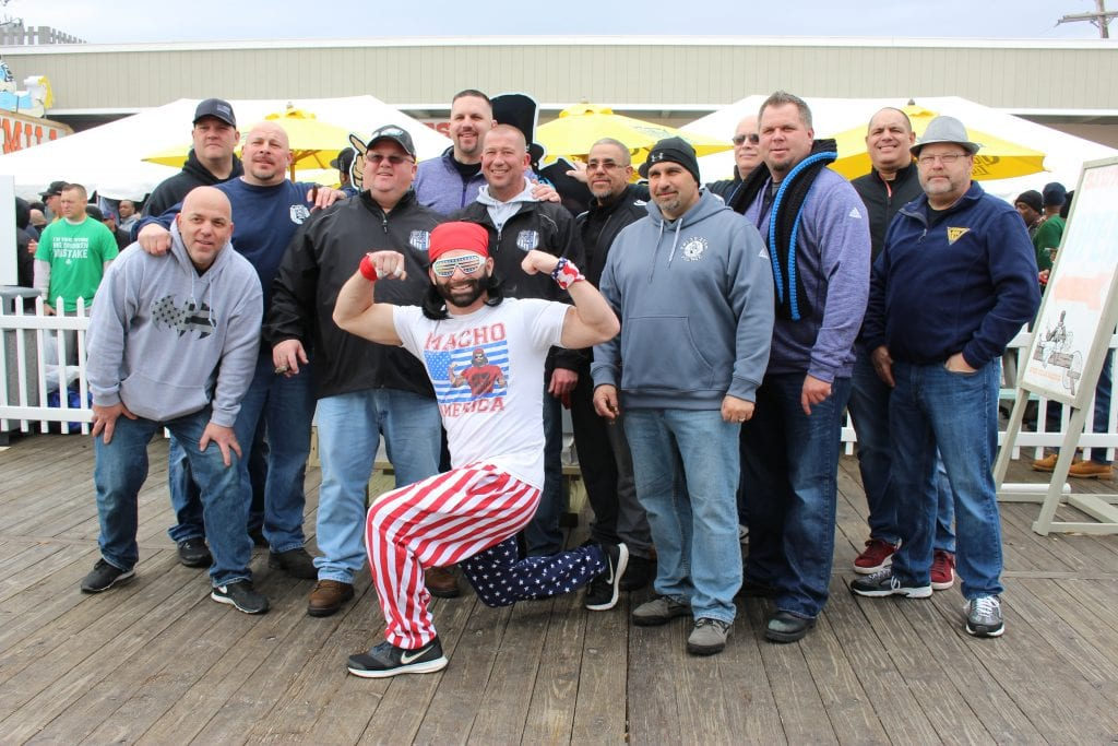 State Corrections Local 105 is easy to spot at the Polar Bear Plunge, with more than 1,000 members attending the event every year.